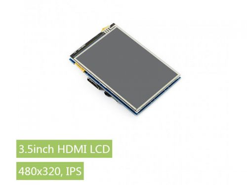 """Raspberry Pi 3.5"""" HDMI Resistive Touch LCD IPS 480x320"""