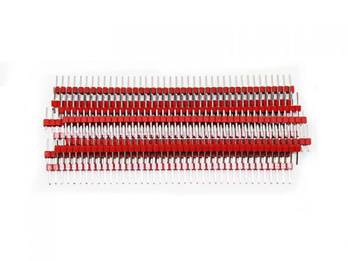 Male Header 40-Pin Red 10pcs