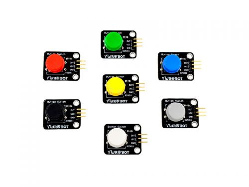 Button with Cap Module Yellow