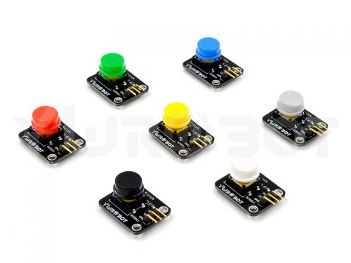 Button with Cap Module Red